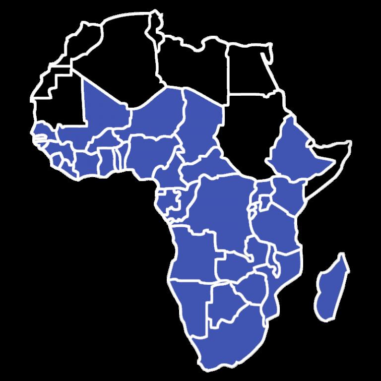 Sub-Saharan Africa Map